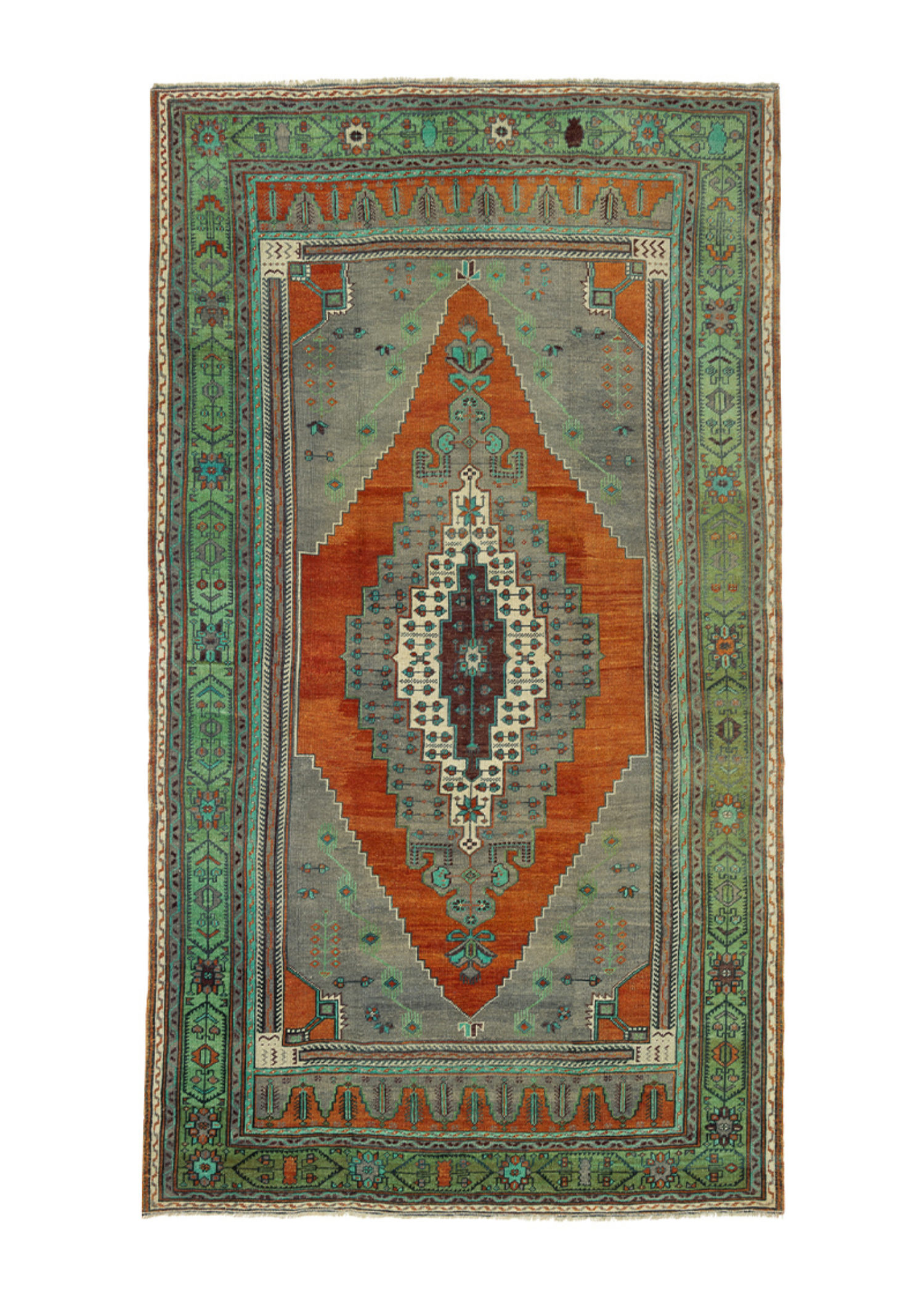 Vintage Geometric Green Medallion 56587