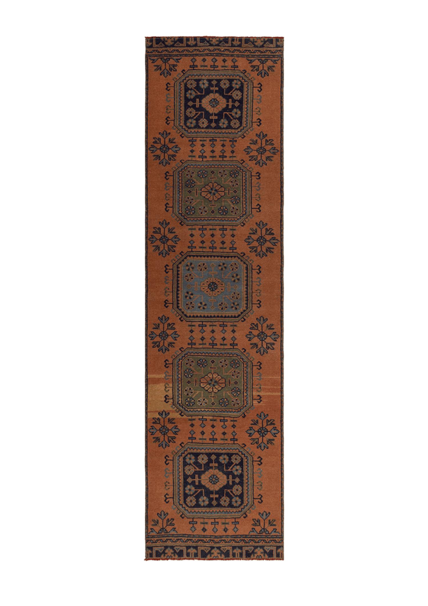 Vintage Runner Geometric Terracotta 55598