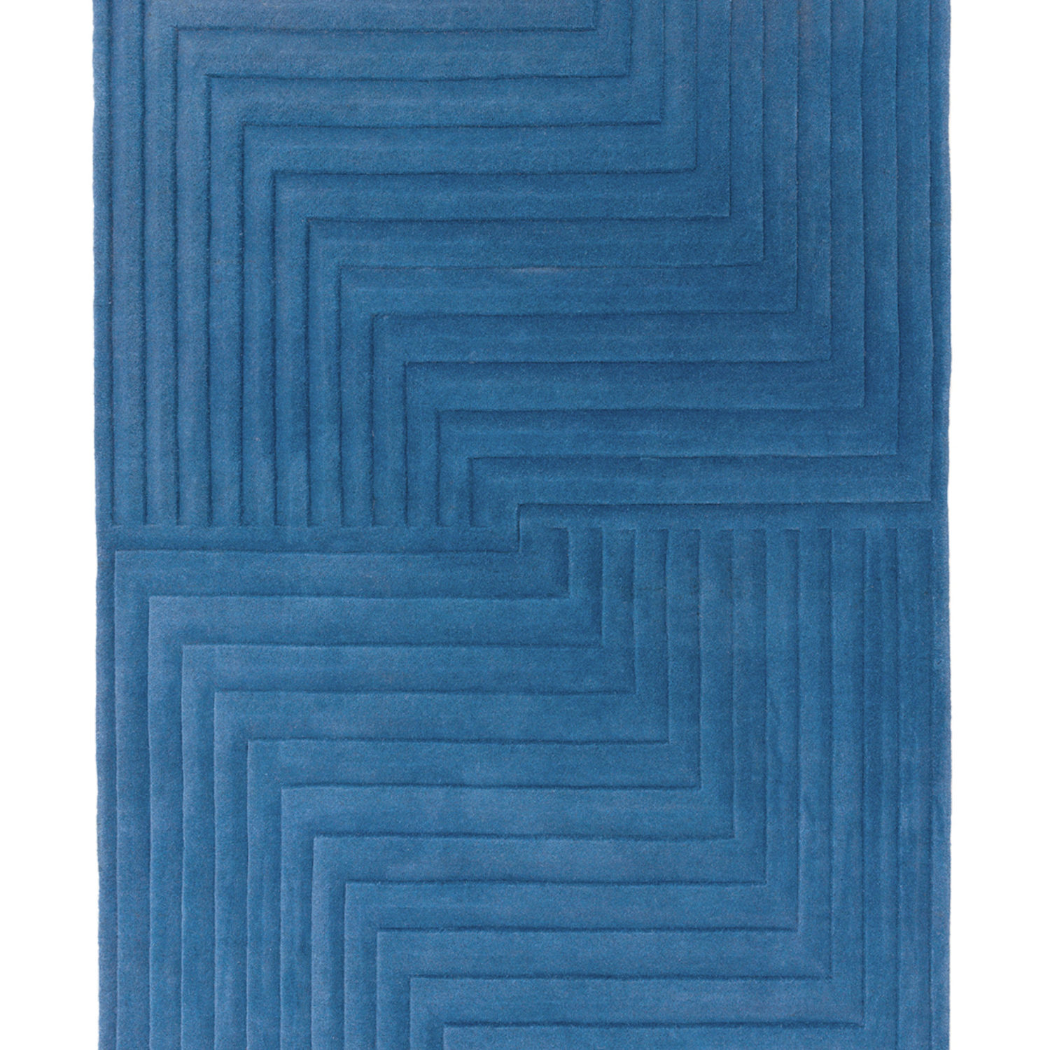 Sophisticated 3D sculptured rug, expertly hand carved