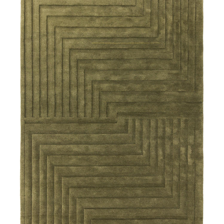 Sophisticated 3D sculptured rug, expertly hand carved