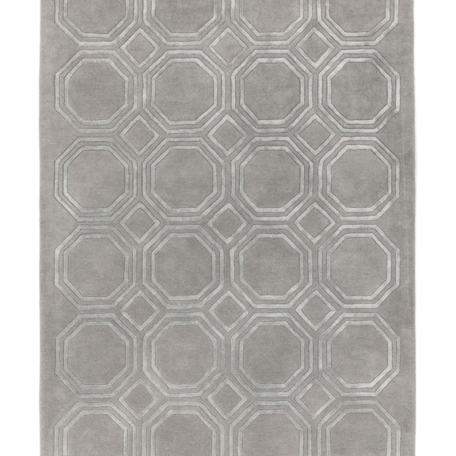 Prenium quality tufted rugs in precise hand carved geometric designs