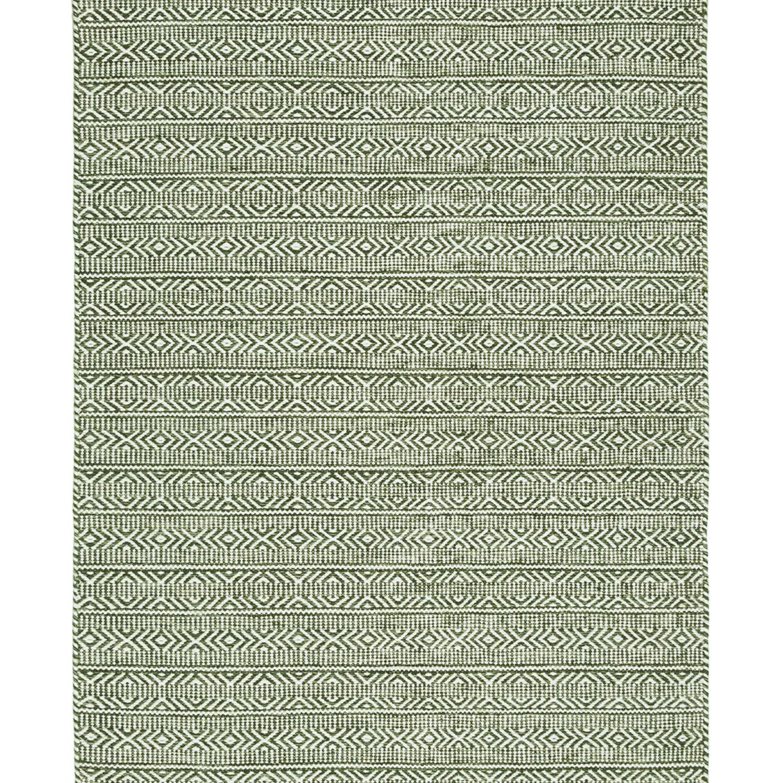 Reversible wool dhurrie in a smart geometric pattern