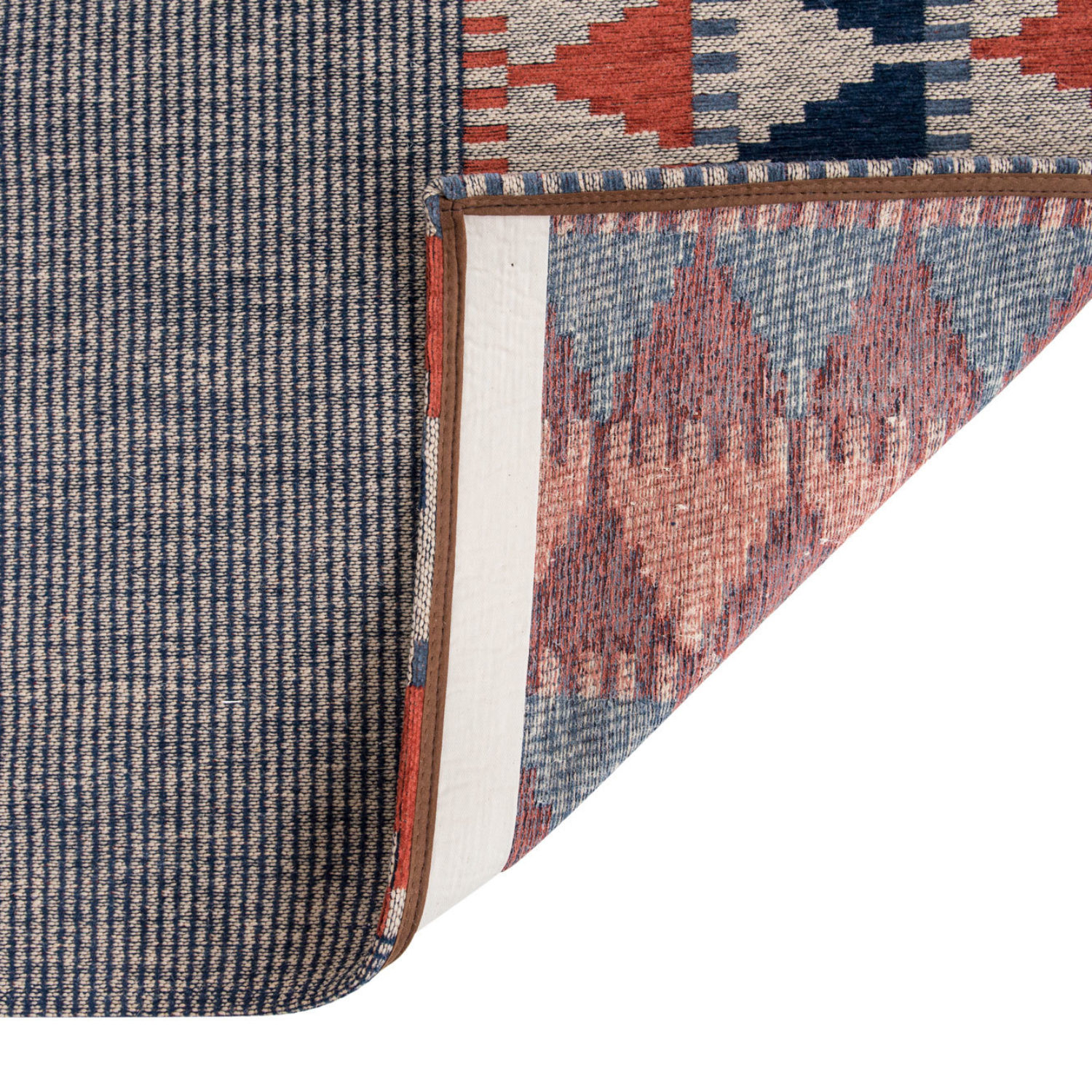A contemporary geometric rug inspired by tradionnal folk patterns