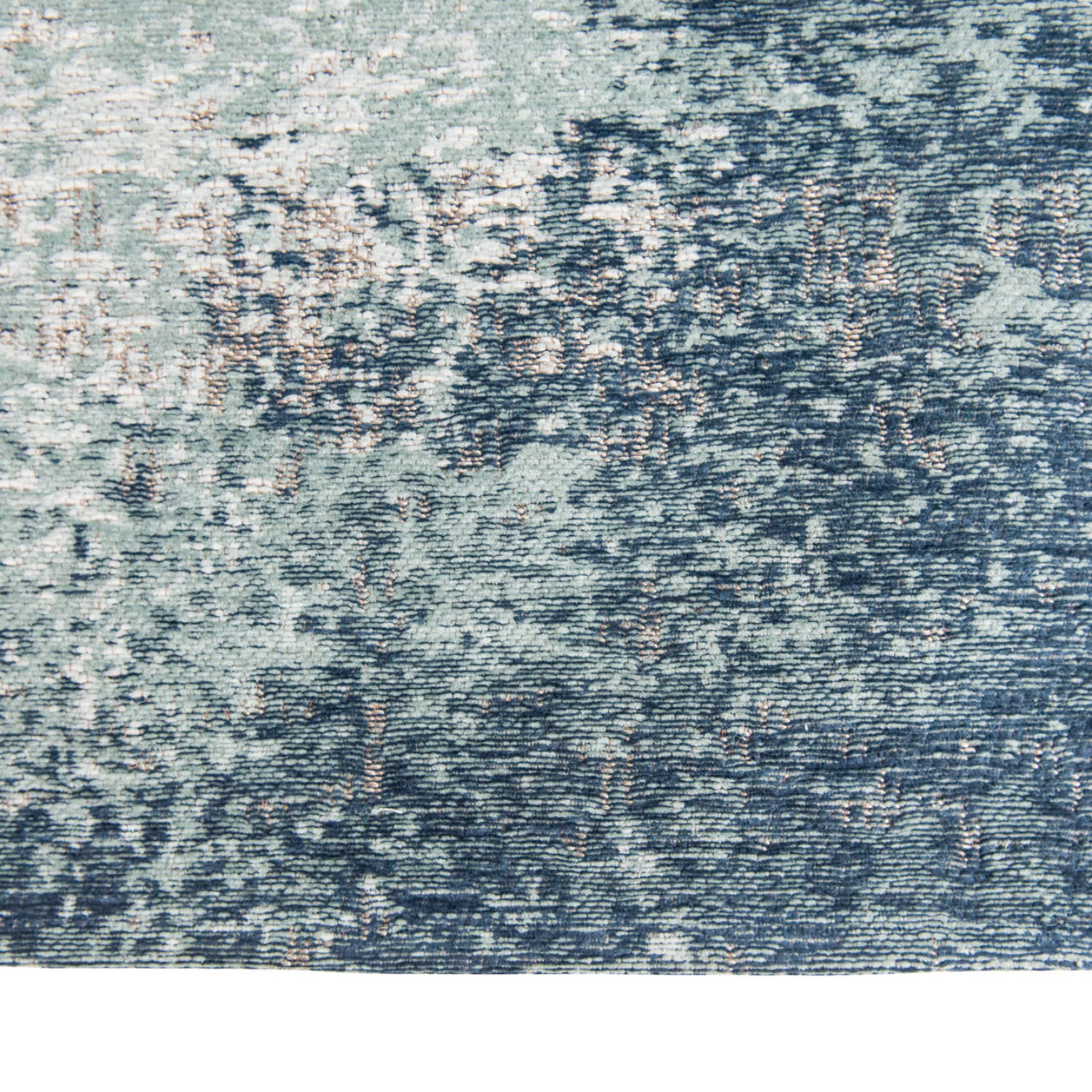 A richly textured rug for a distressed look.