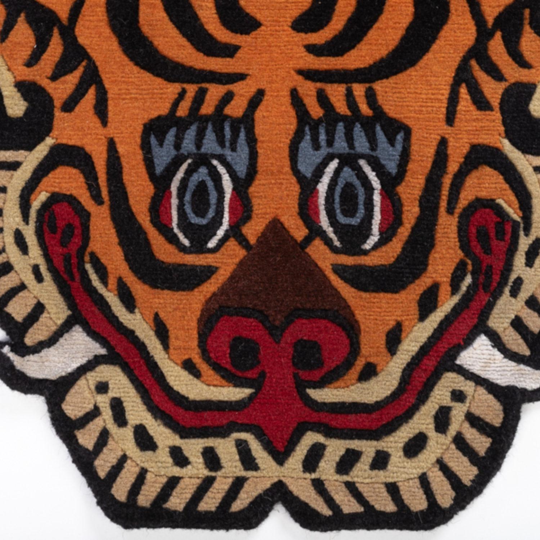A remarkable traditional Tibetan rug