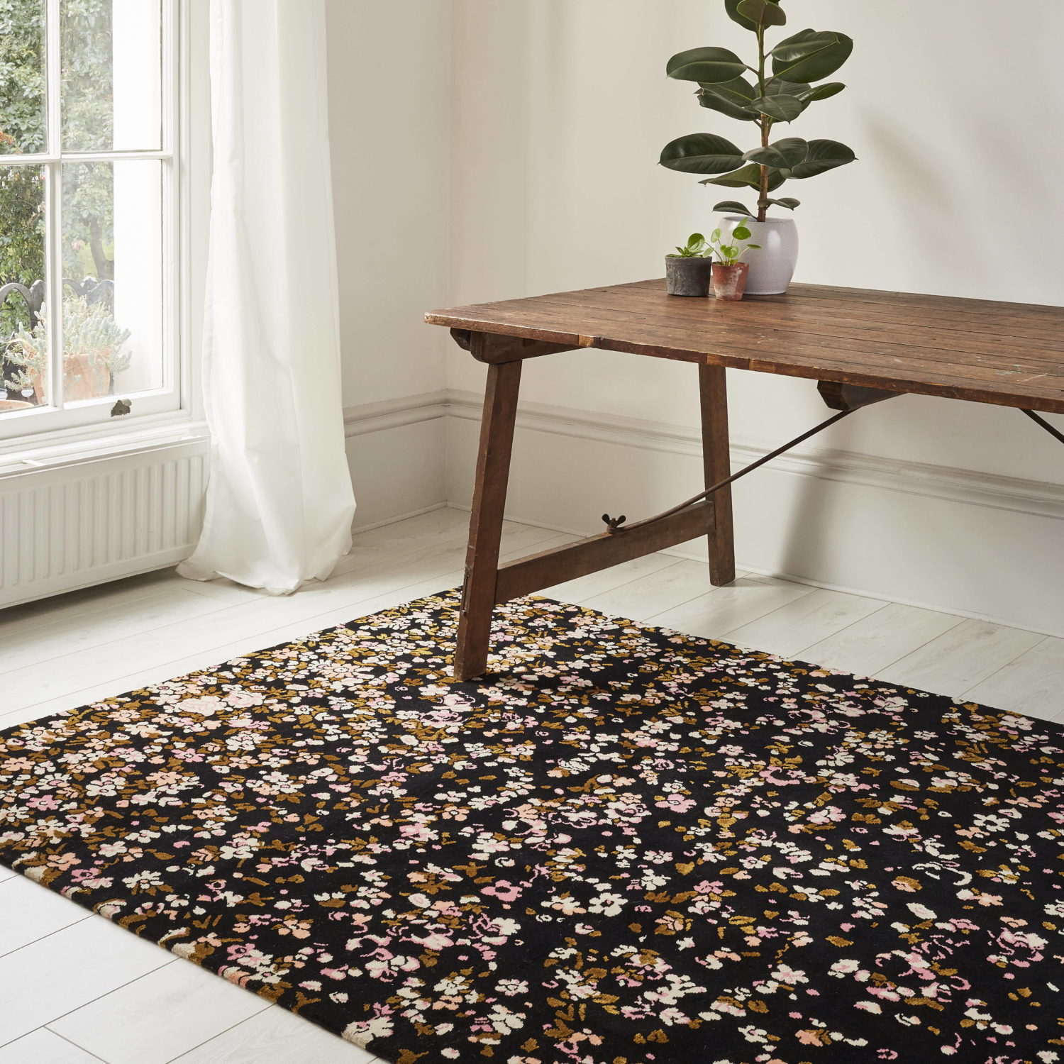 An exquisite hand-knotted rug inspired by the hidden treasures discovered in property restoration