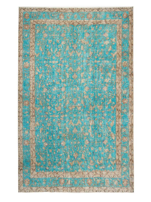 Vintage Turquoise Floral Border 25815