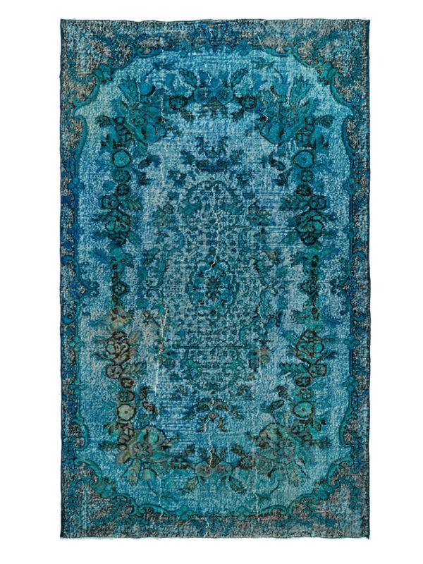 Vintage Blue Overdyed Floral Border