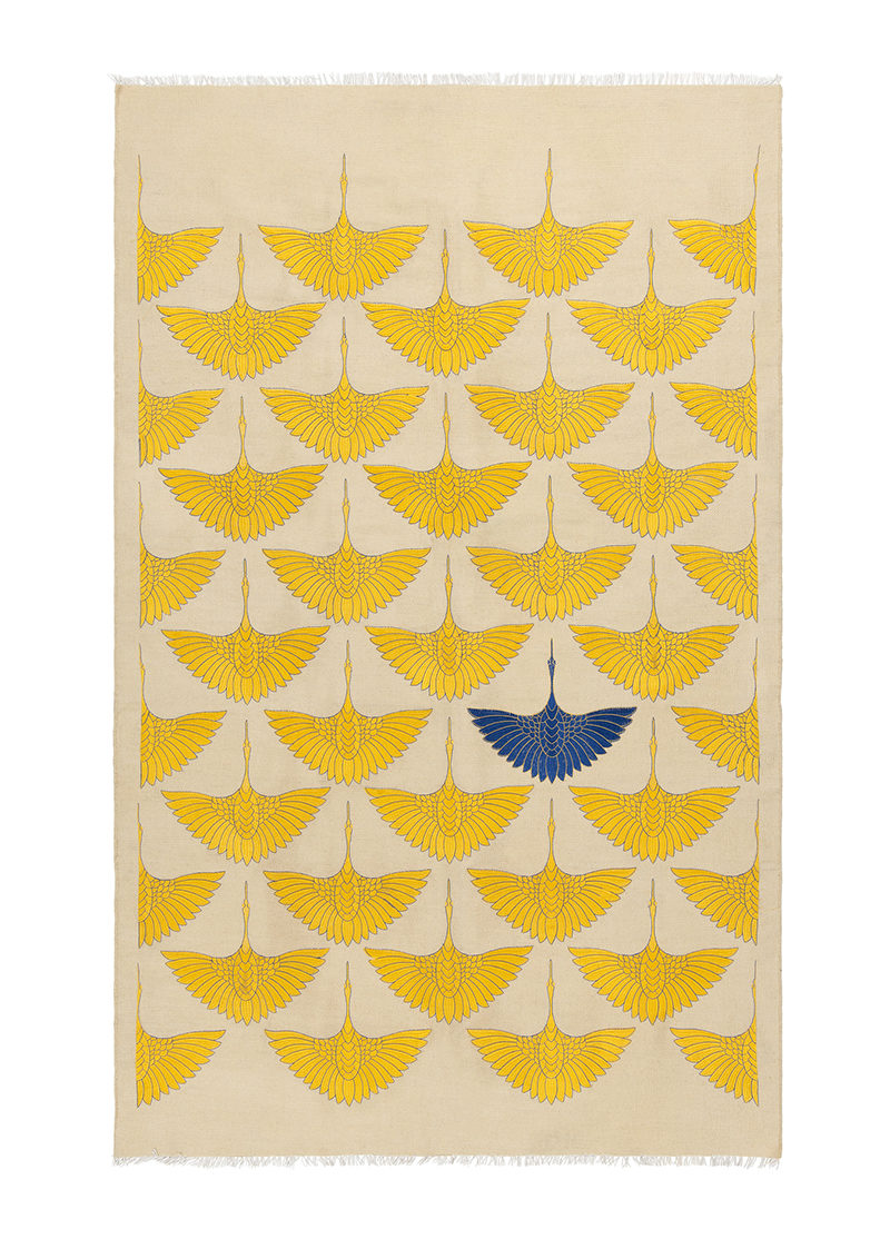 Birds Gold and Navy