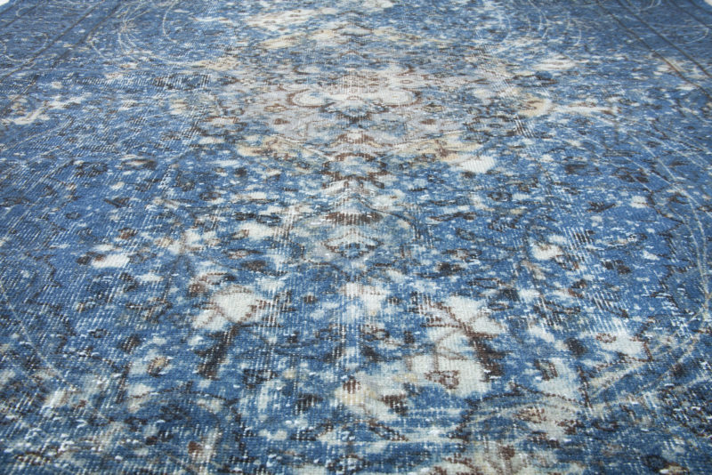 Vintage Overdyed Blue Modern Abstract Pattern 1812226