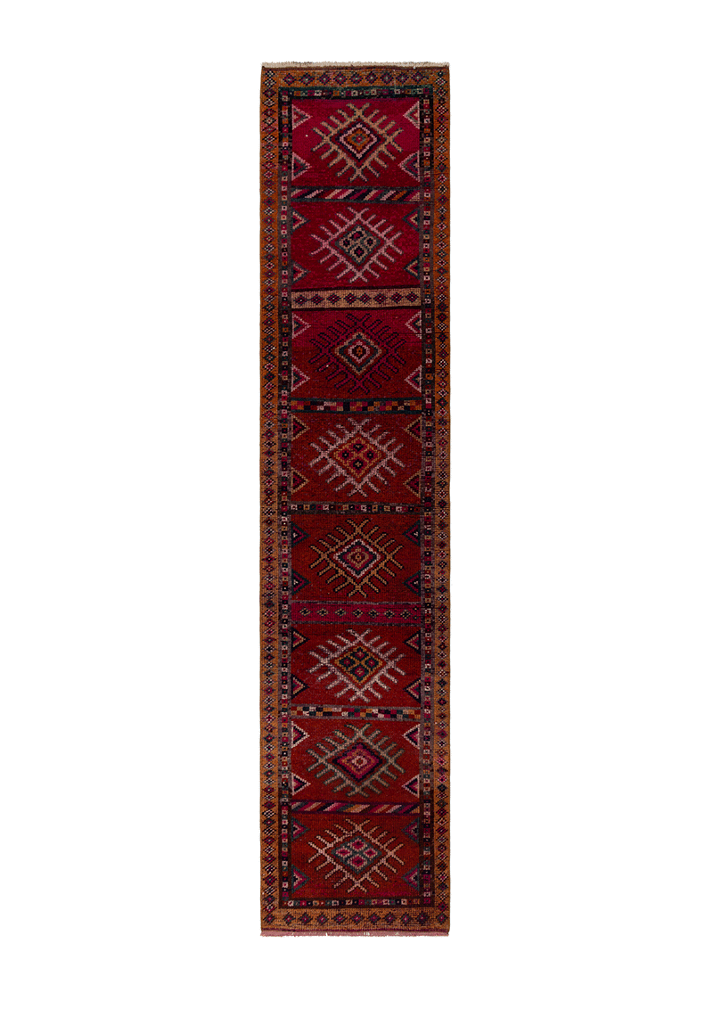Vintage runner Red Antique 55958