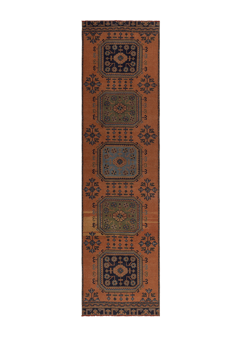 Vintage Runner Geometric Terracotta 55598