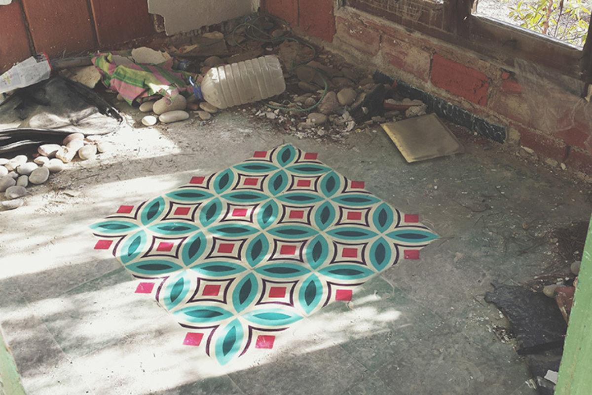 Spray on tiles