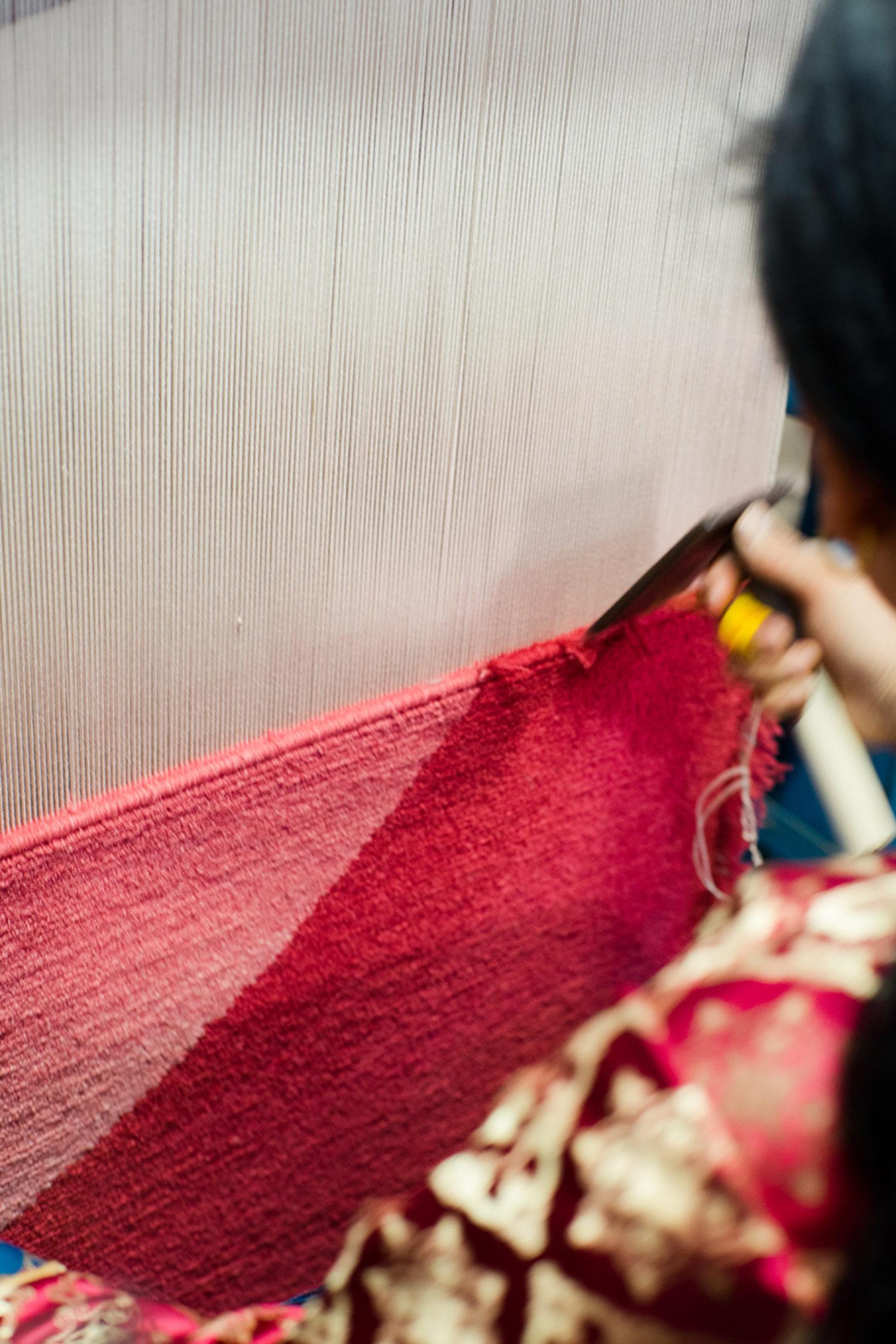 In the making: FLOOR_STORY x Child Studio Weaving process